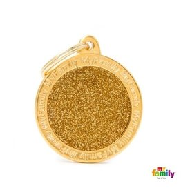 MyFamily Tag - Gold Glitter Circle