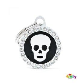 MyFamily Tag - Black Glam Skull
