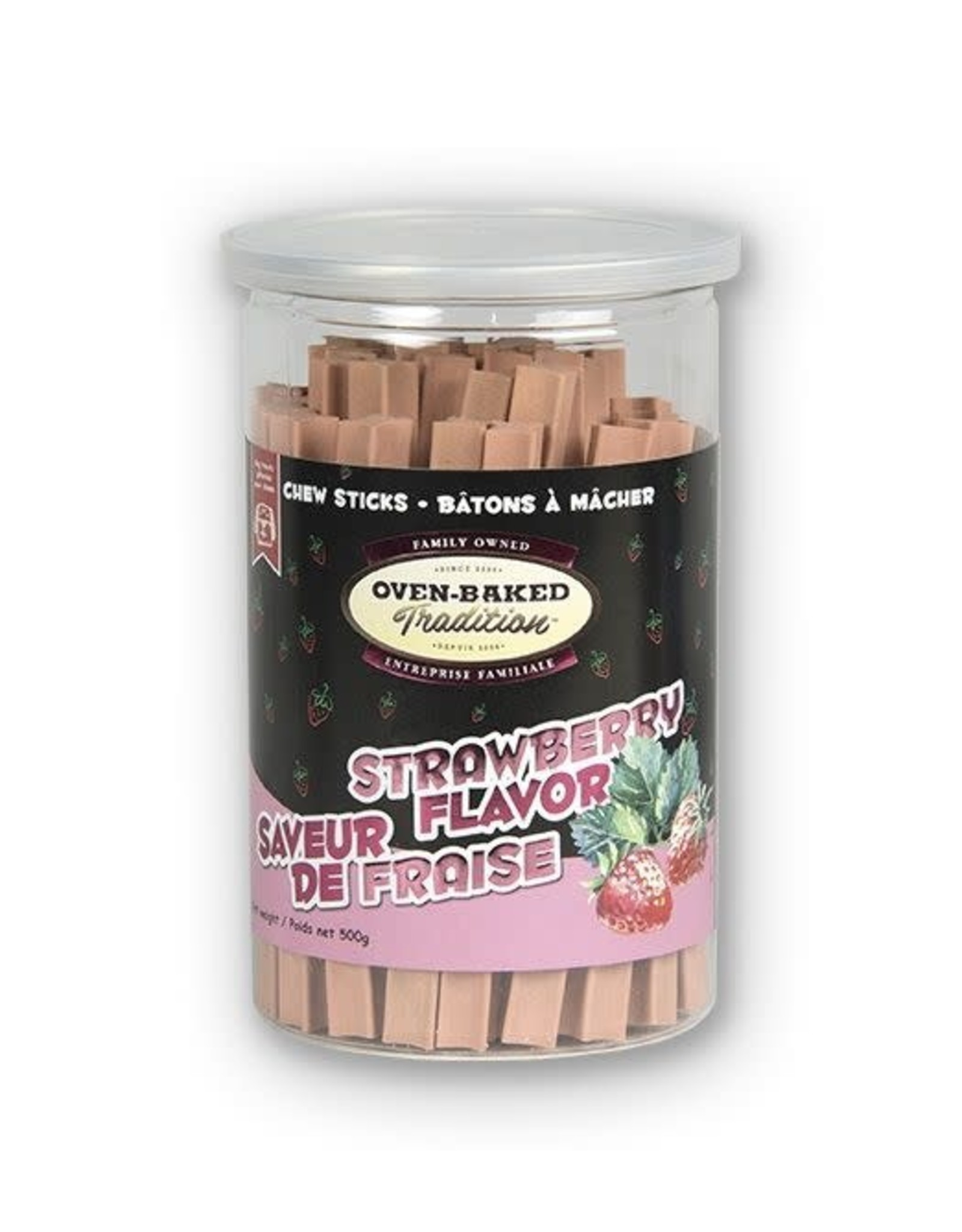 Oven Baked Tradition Strawberry Flavour Chew Sticks, 200g
