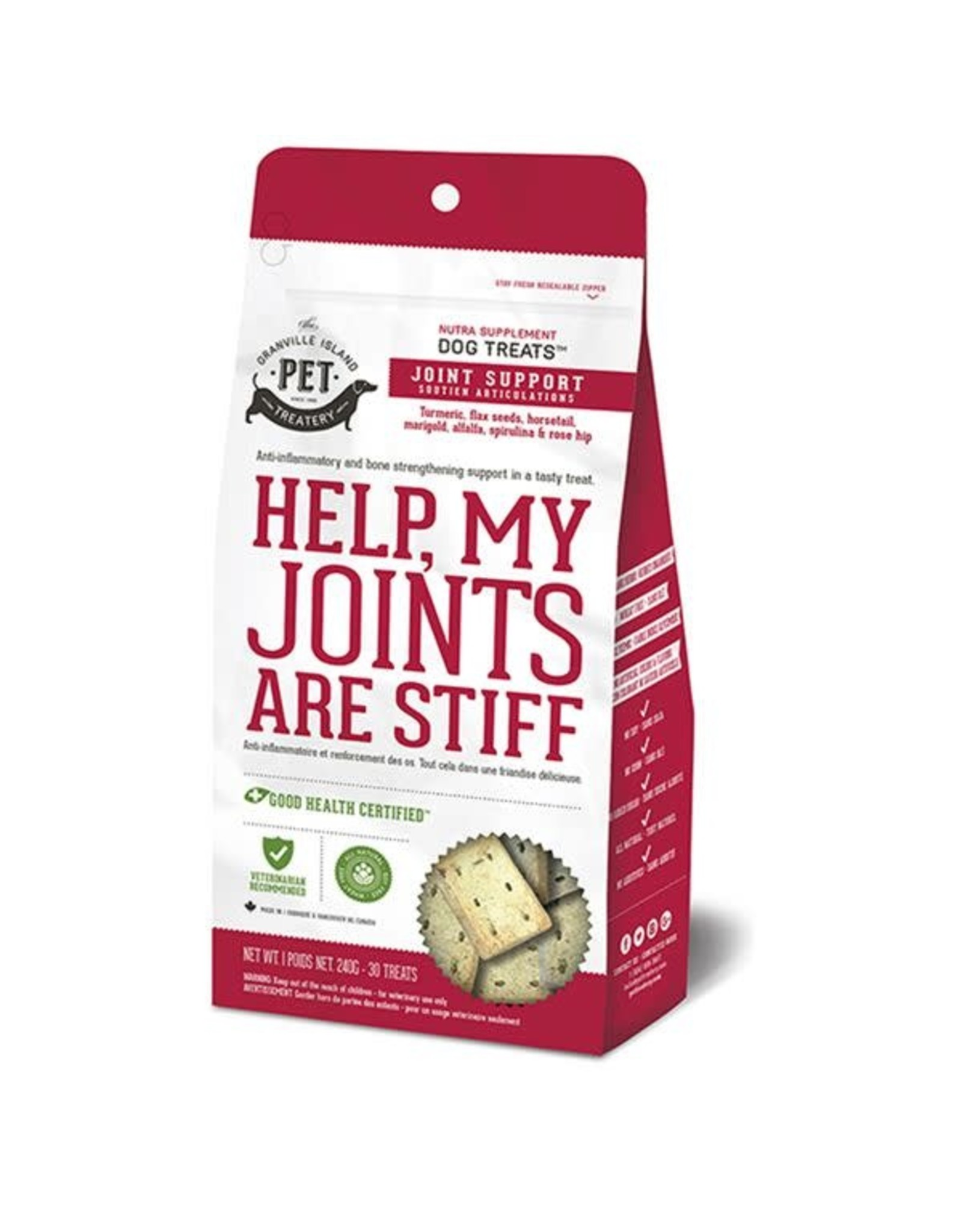 Granville Island Pet Treatery Granville Joint Support Treats Help My Joints are Stiff Dog 1X240G