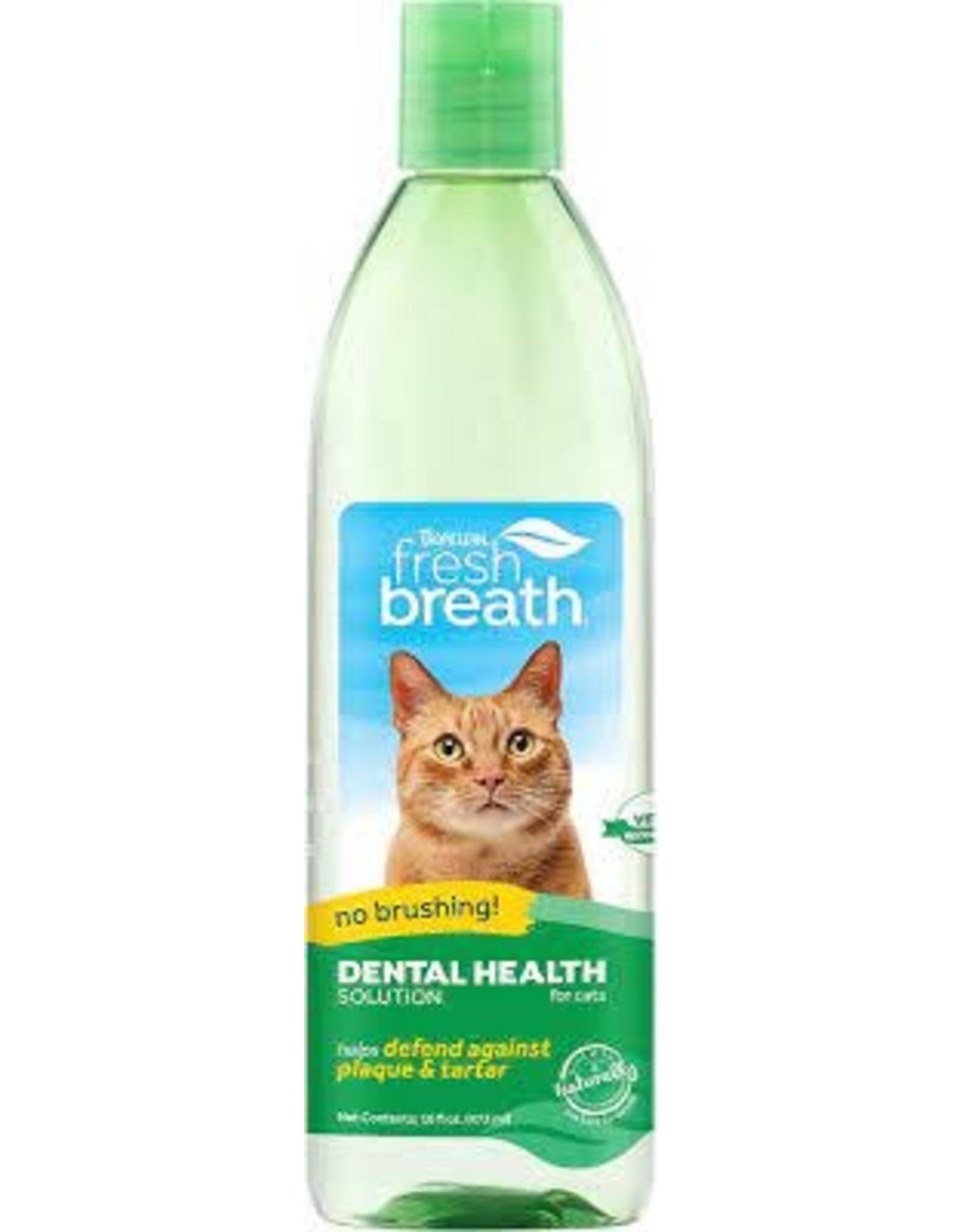 Tropiclean Fresh Breath Water Additive - Cat, 473ml