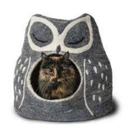 Dharma Dog Karma Cat Boiled Wool Cave - Owl