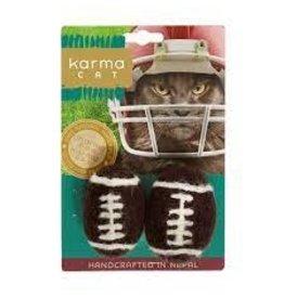 Dharma Dog Karma Cat Wool Felt Football (2pk)