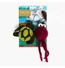Dharma Dog Karma Cat Wool Felt Turtle & Jellyfish