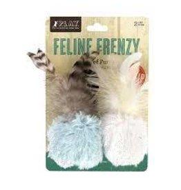 Play Feline Frenzy Catnip Toy - Balls of Fury (2pk)