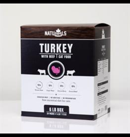 NatuRAWls NatuRAWls - Frozen Raw Turkey & Beef (cat), 24 x113g