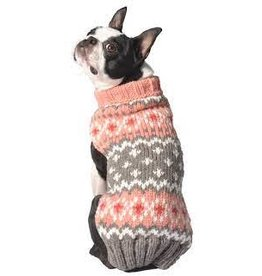 Chilly Dog Clothing Chilly Dog Sweater - Peach Fairisle