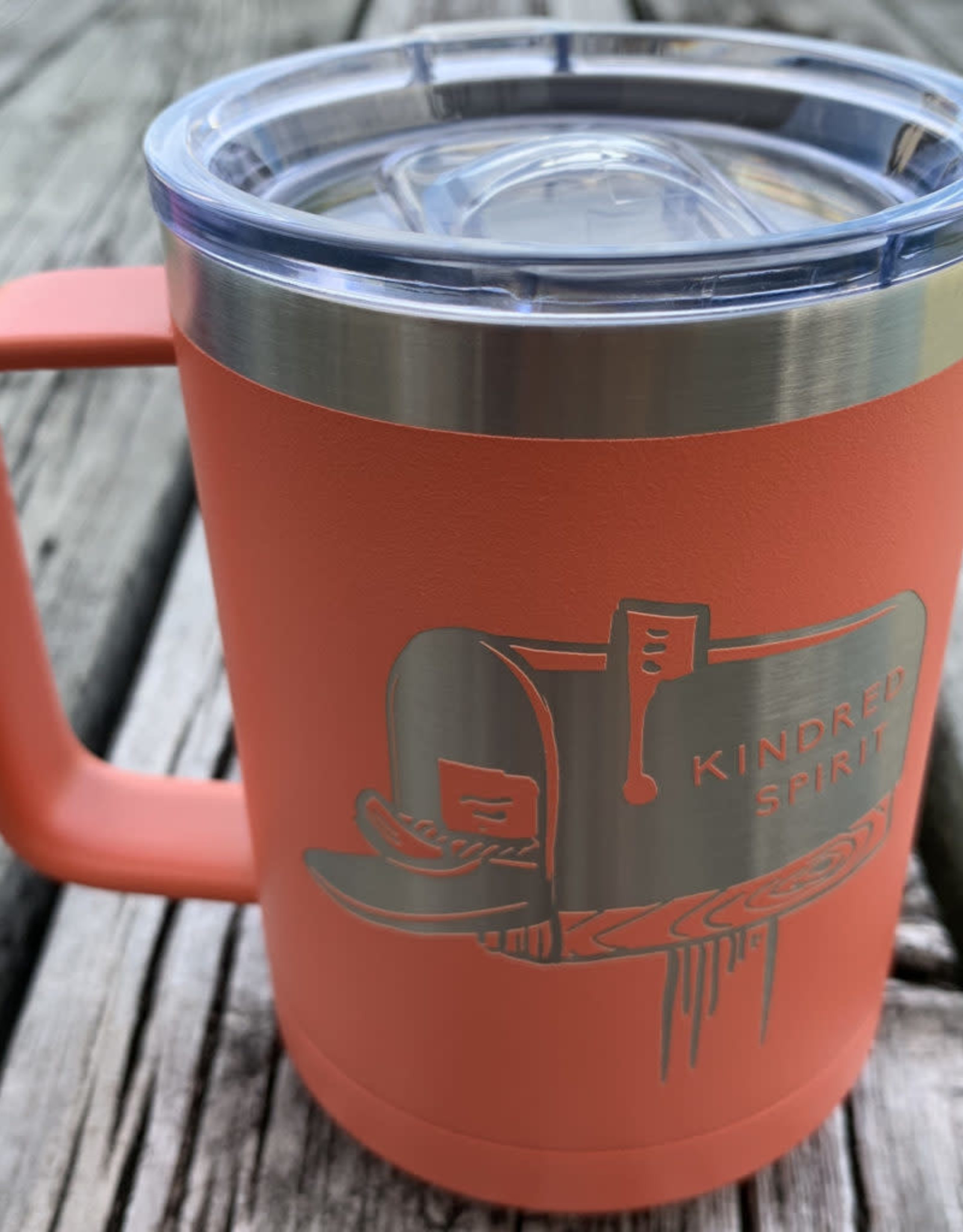 KINDRED SPIRIT INSULATED MUG CORAL