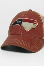 NC SHAPE FLAG OFA CAP CARDINAL