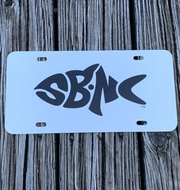 sbncfish SBNC FISH LICENSE PLATE WHITE