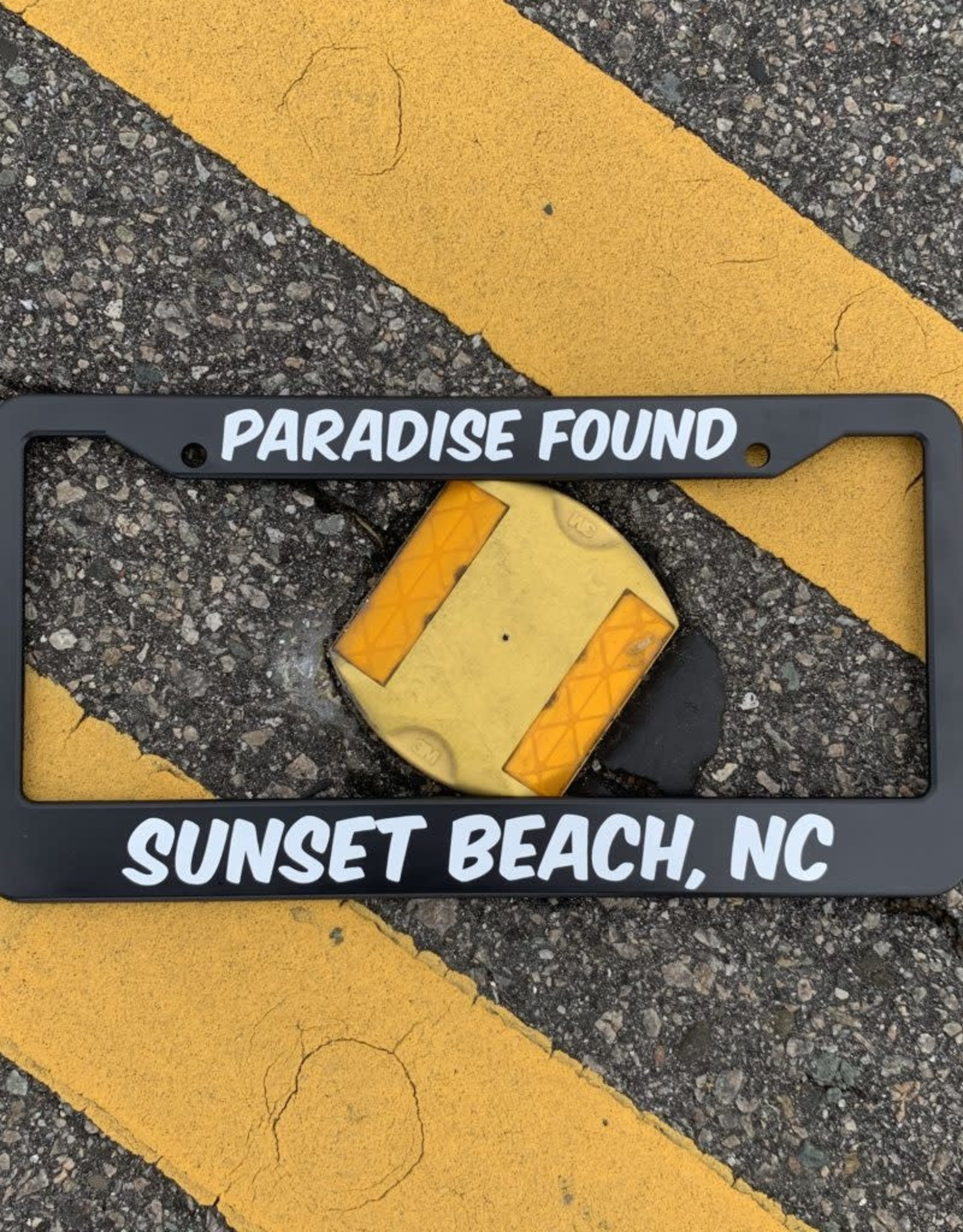 PARADISE FOUND LICENSE PLATE FRAME