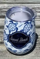 BLUE SEA TURTLES WINE GLASS