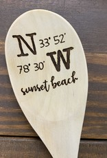 LATITUDE LONGITUDE WOODEN SPOON