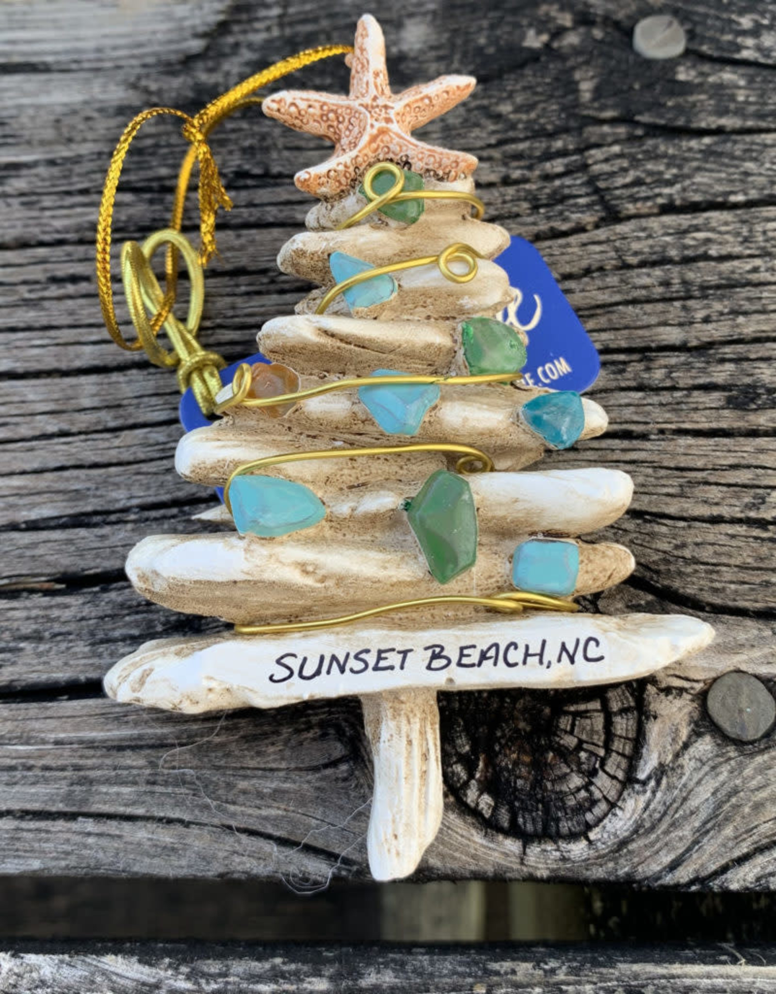 ORNAMENT SEA GLASS TREE