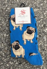 PUGS BLUE WOMENS SOCK