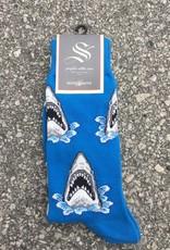 SHARK ATTACK BLU MENS SOCK