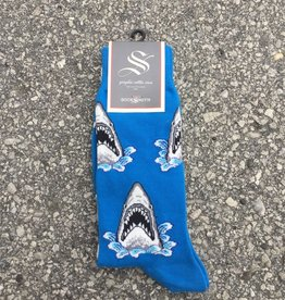 SHARK ATTACK BLU MENS SOCK