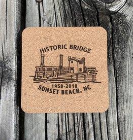 HISTORIC BRIDGE CORK COASTER