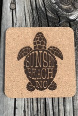 SBNC TURTLE CORK COASTER