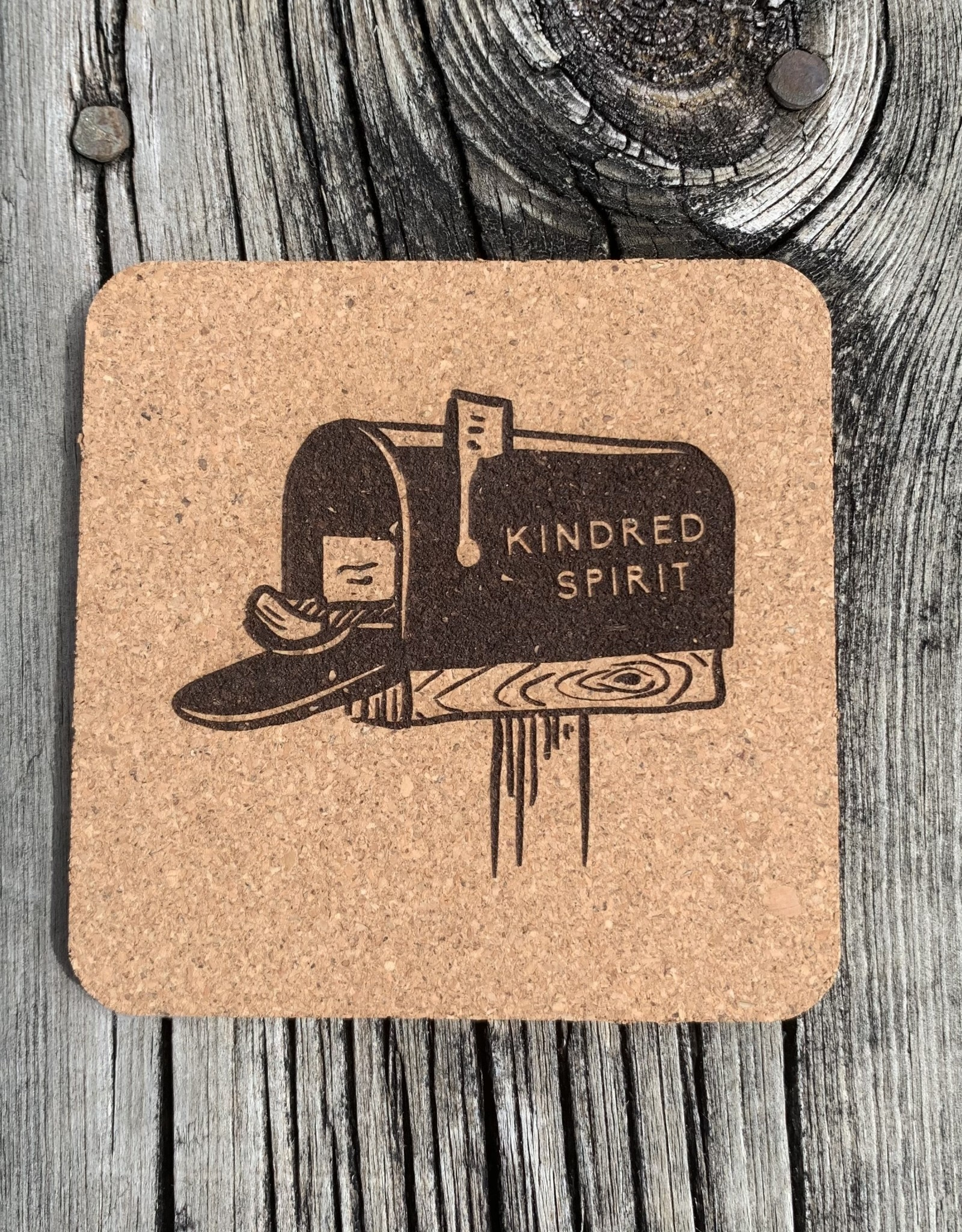KINDRED SPIRIT CORK COASTER