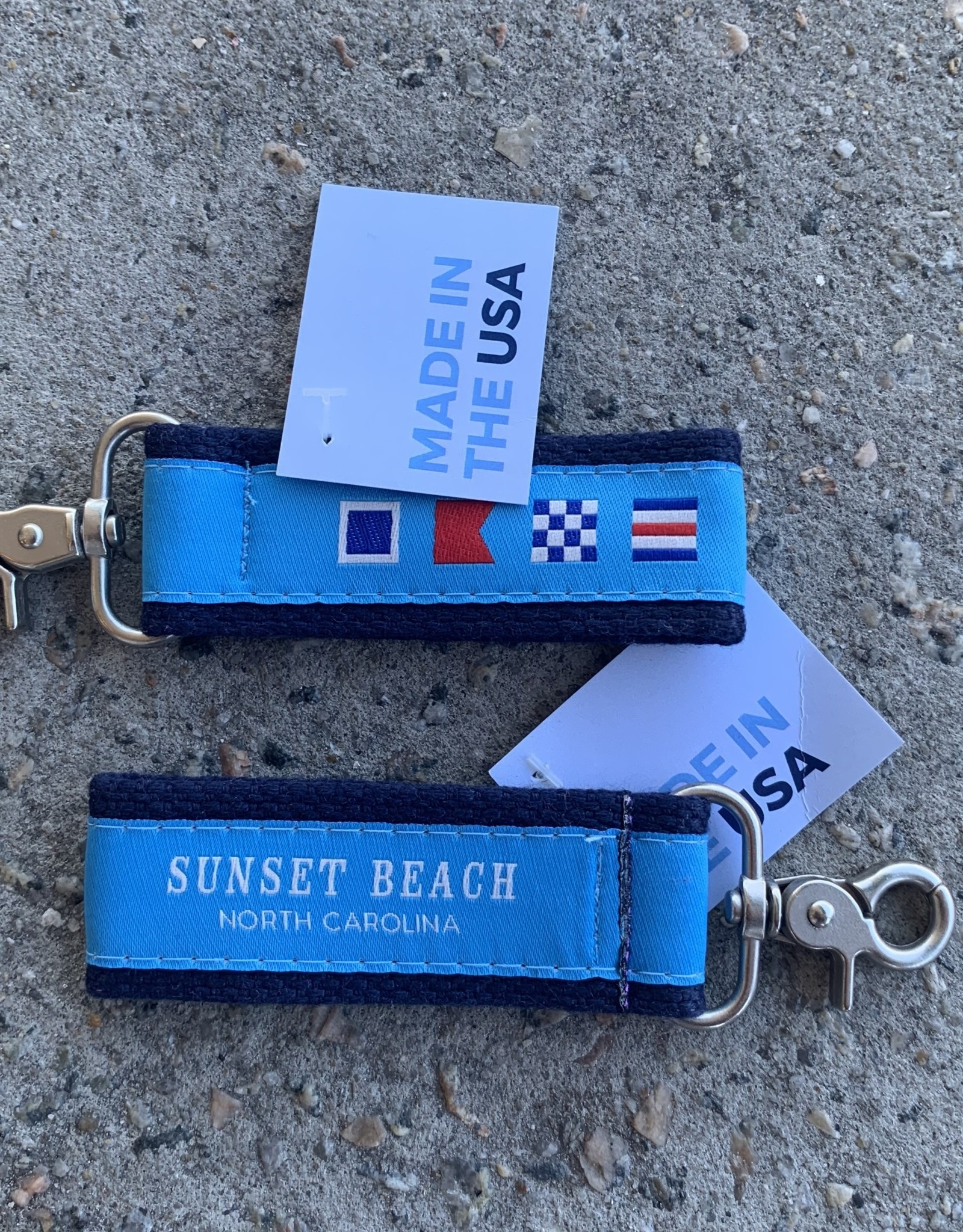 NAUTICAL FLAG SWIVEL KEY STRAP