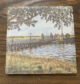 OLD BRIDGE WATERCOLOR COASTER
