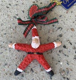 SANTA STAR CHRISTMAS ORNAMENT