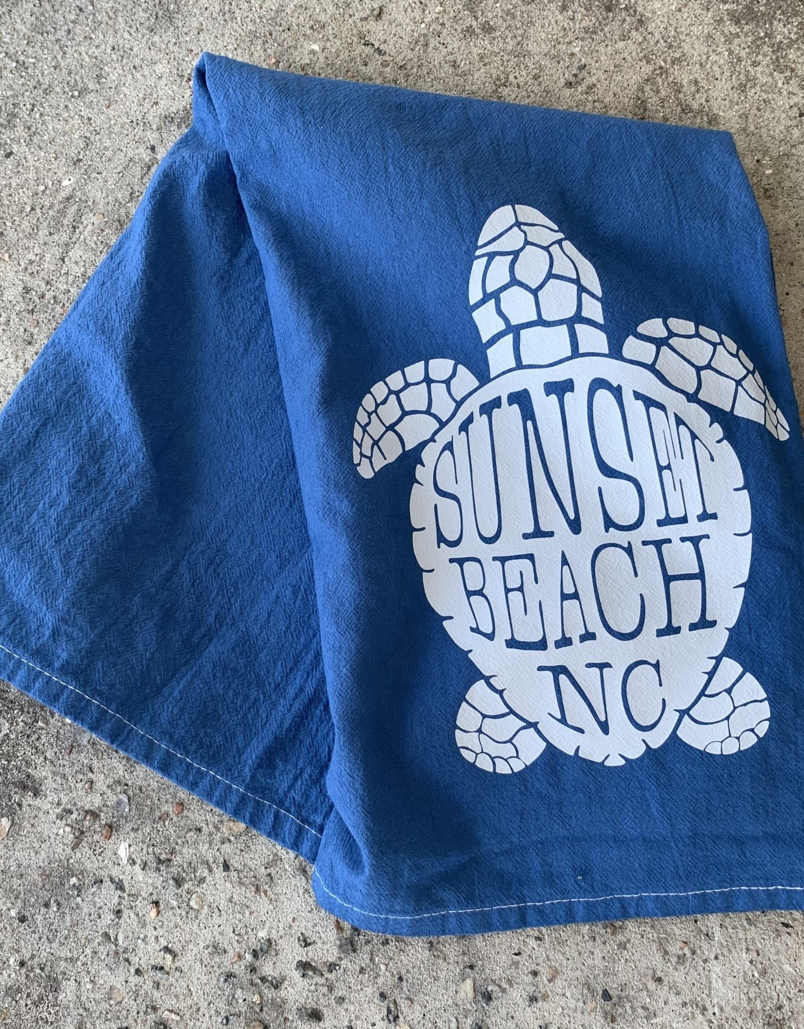 DISH TOWEL SB TURTLE BLUE