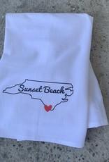 SB NC HEART WHITE DISH TOWEL