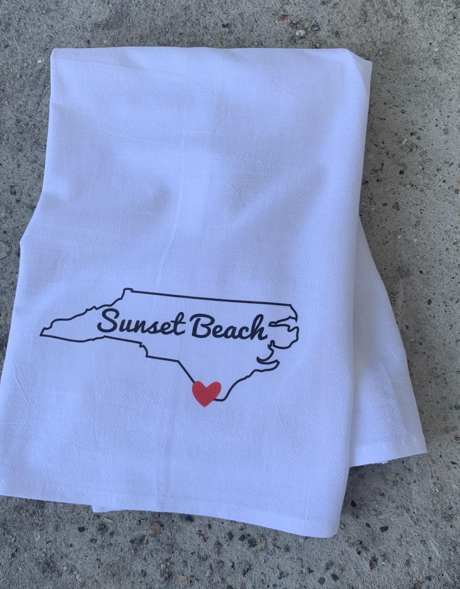 DISH TOWEL SB NC HEART WHITE