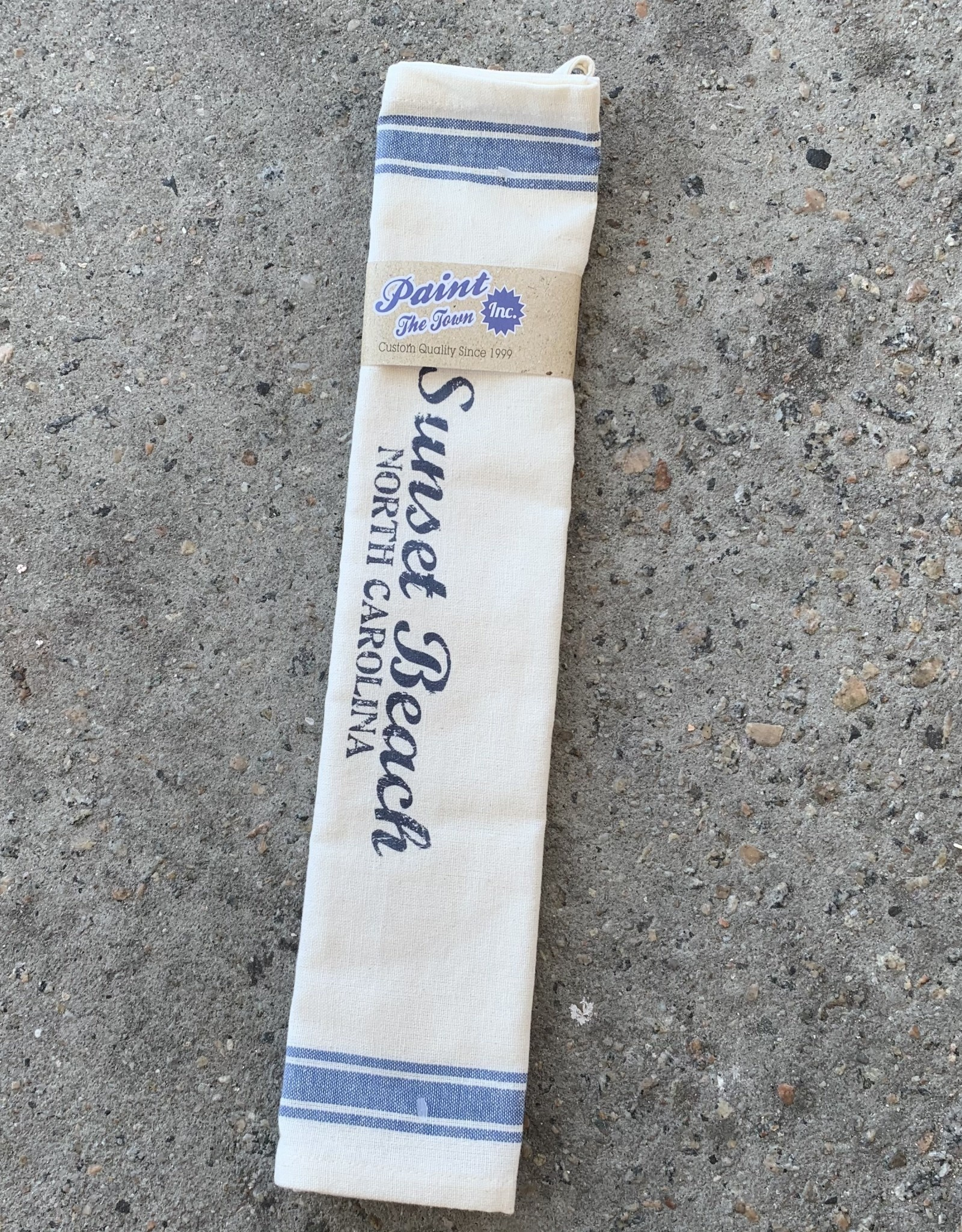 SBNC BLUE & WHITE TEA TOWEL