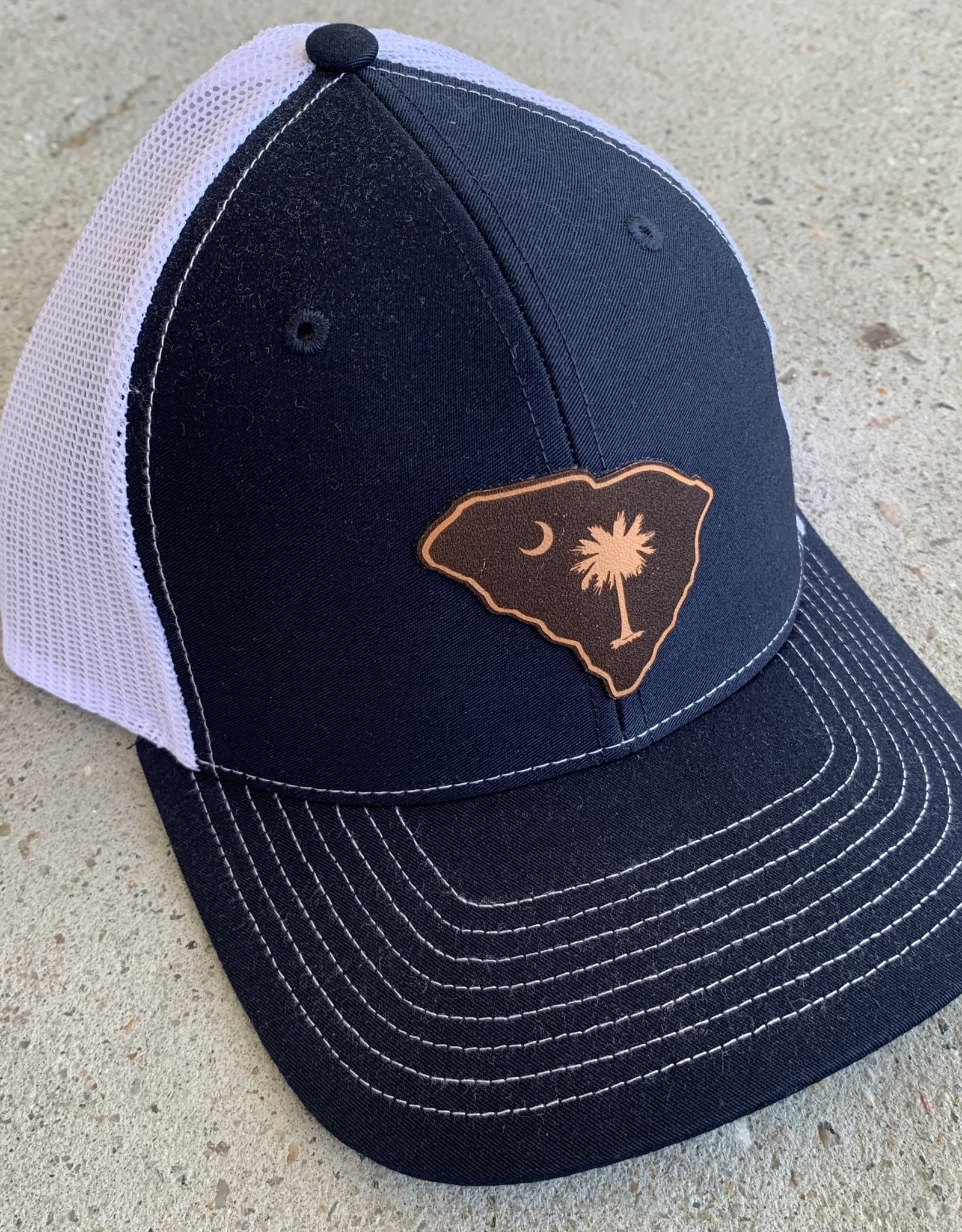 SC ETCHED STATE NAV/WHT CAP