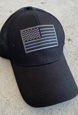 BLACK USA FLAG PATCH CAP