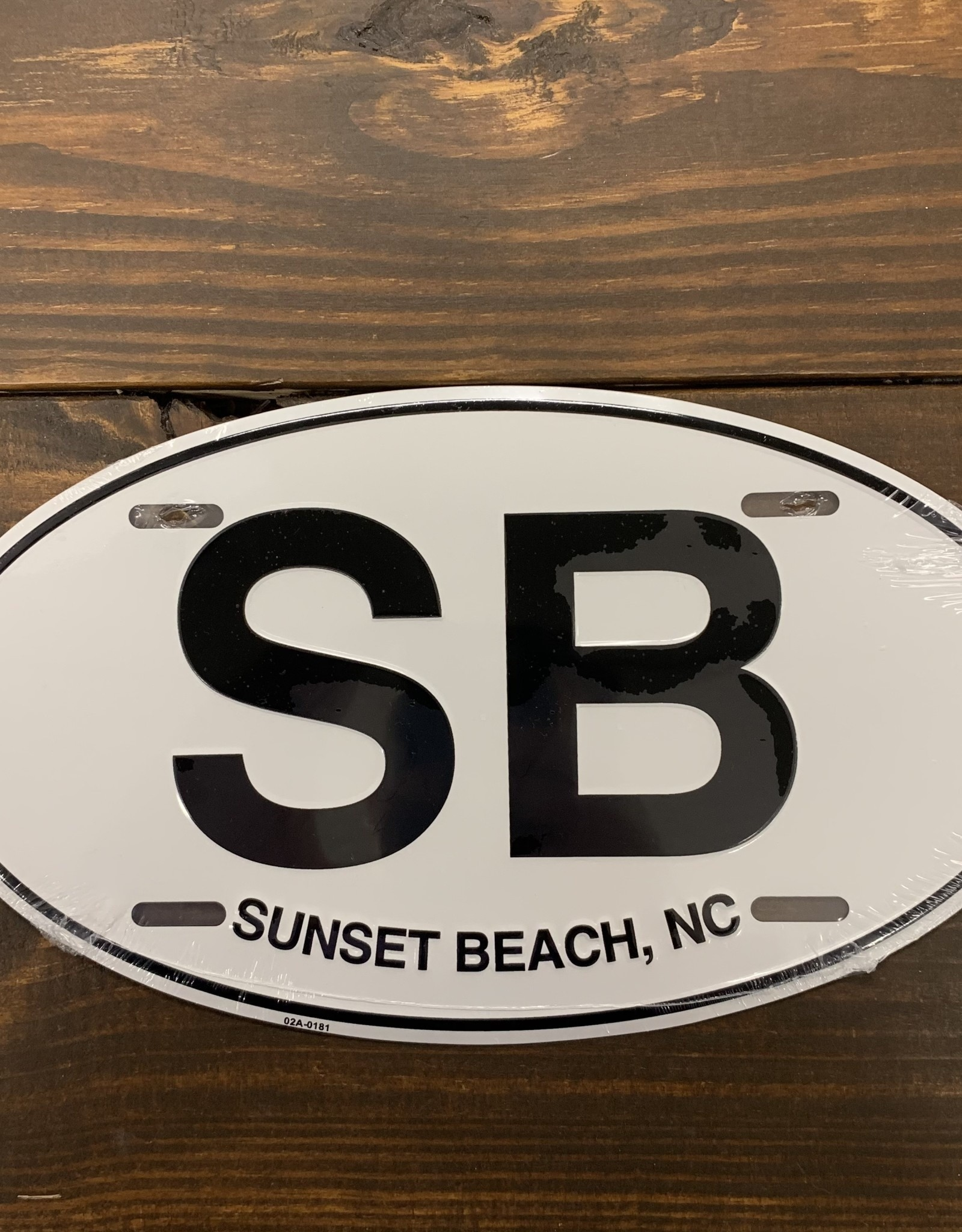 OVAL METAL SB LICENSE PLATE