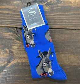 SMART ASS MENS SOCK BLUE