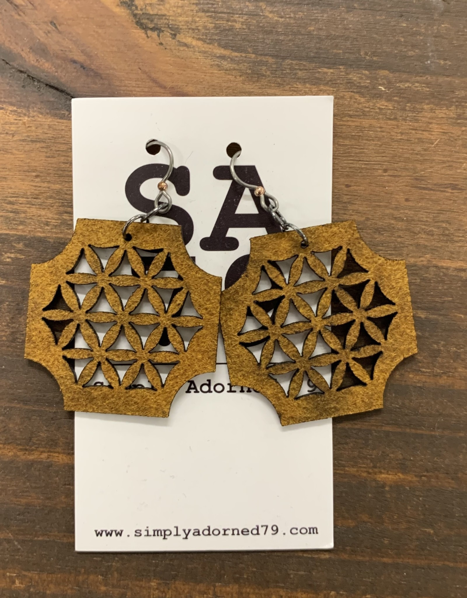 THE HONEYCOMB - YELLOW EARRING