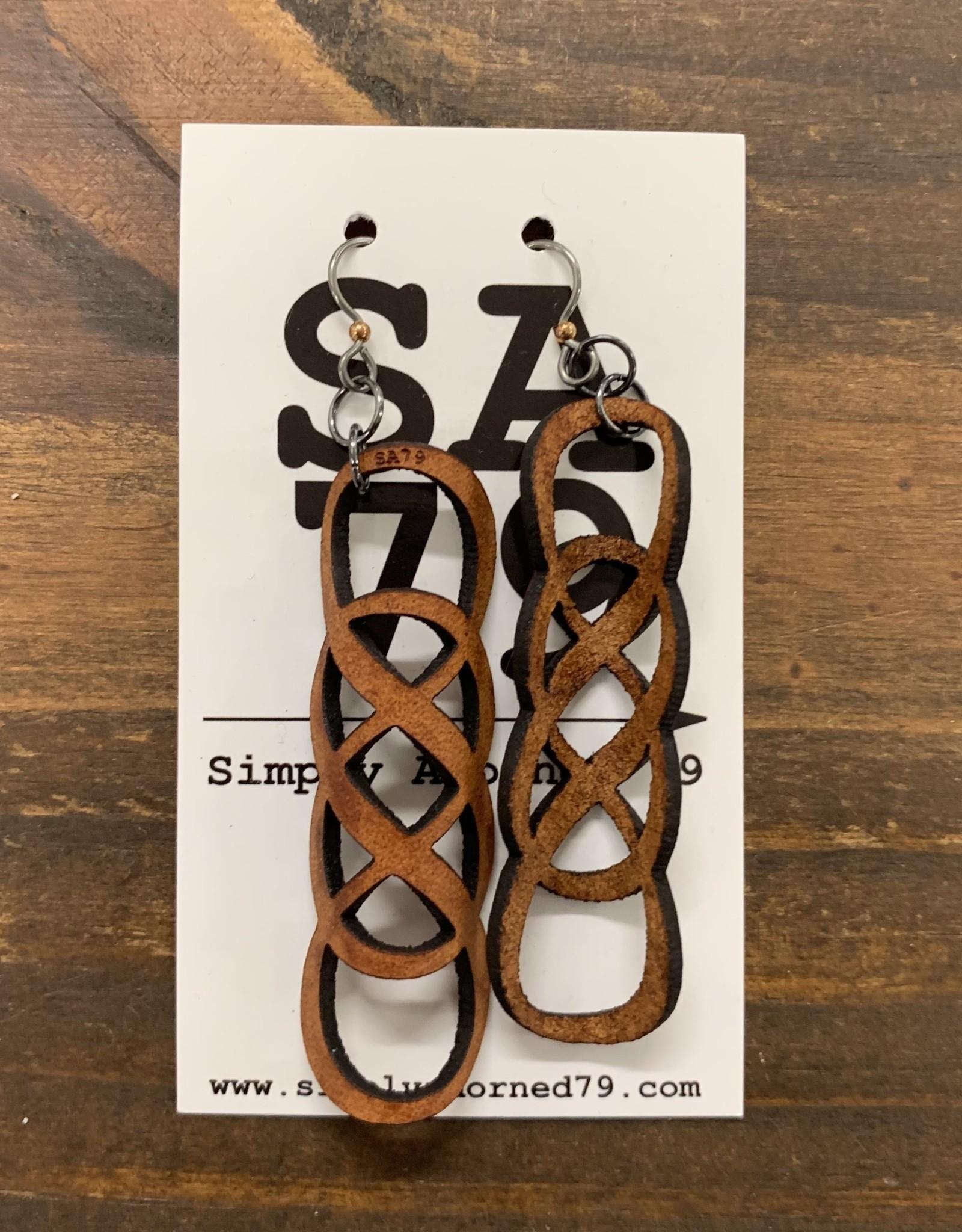 SA79 - THE INFINITY- TAN EARRING