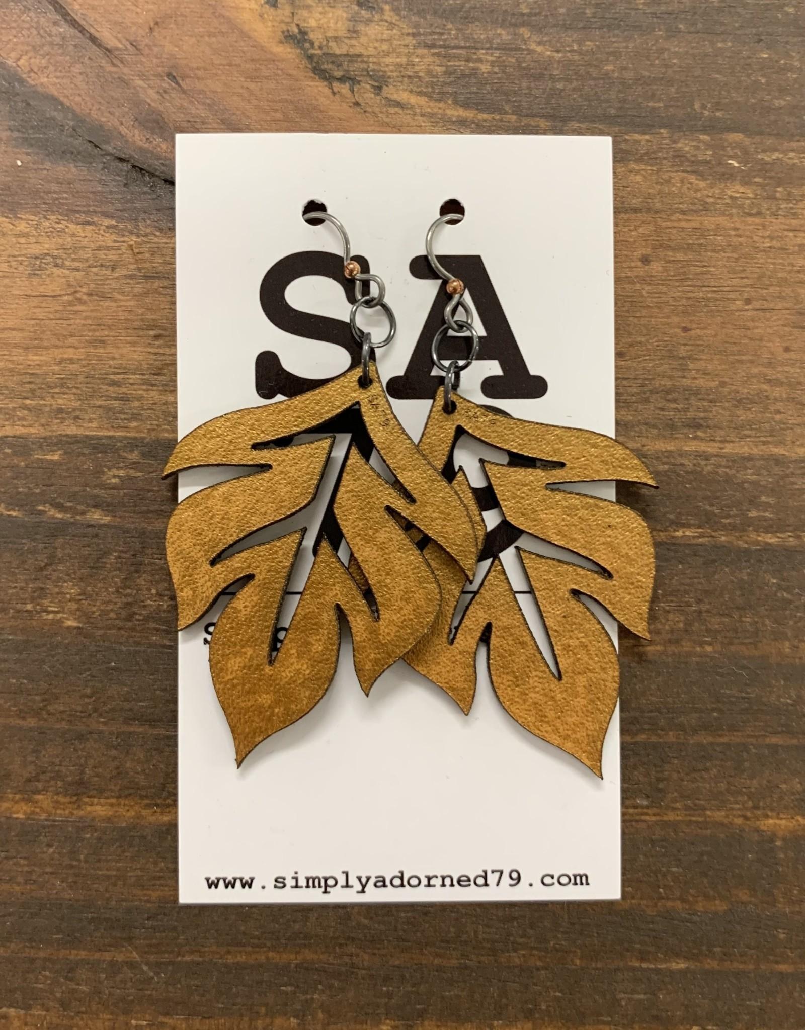 SA79 - THE LEAF - GOLD EARRING