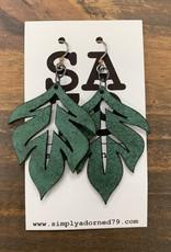 SA79 - THE LEAF - GREEN EARRING