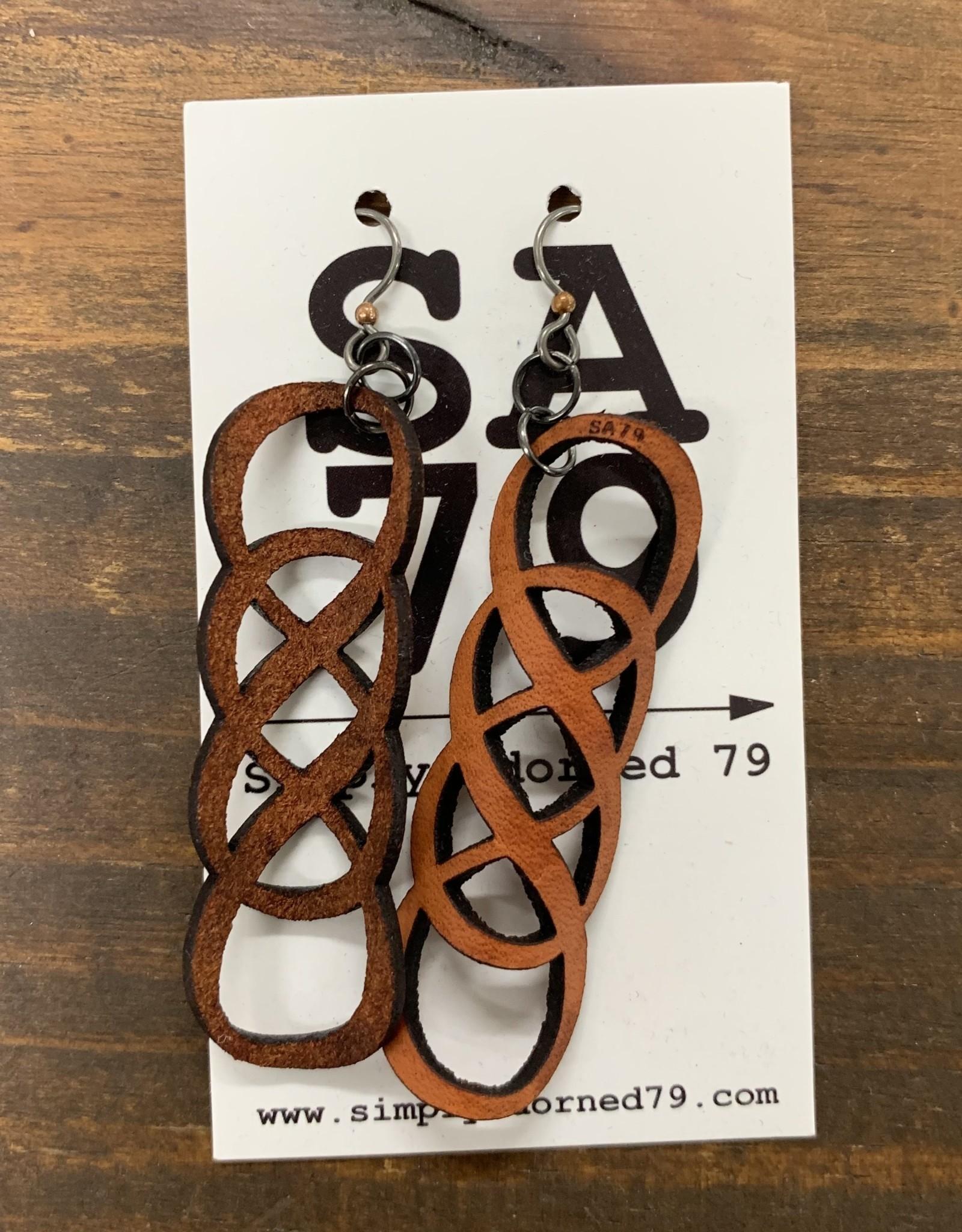 SA79 - THE INFINITY- ORANGE EARRING