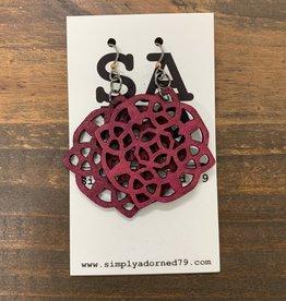 SA79 - THE ROSE - FUCHSIA EARRING