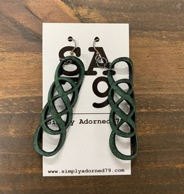 SA79 - THE INFINITY- GREEN EARRING