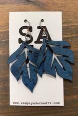SA79 - THE LEAF - BLUE EARRING