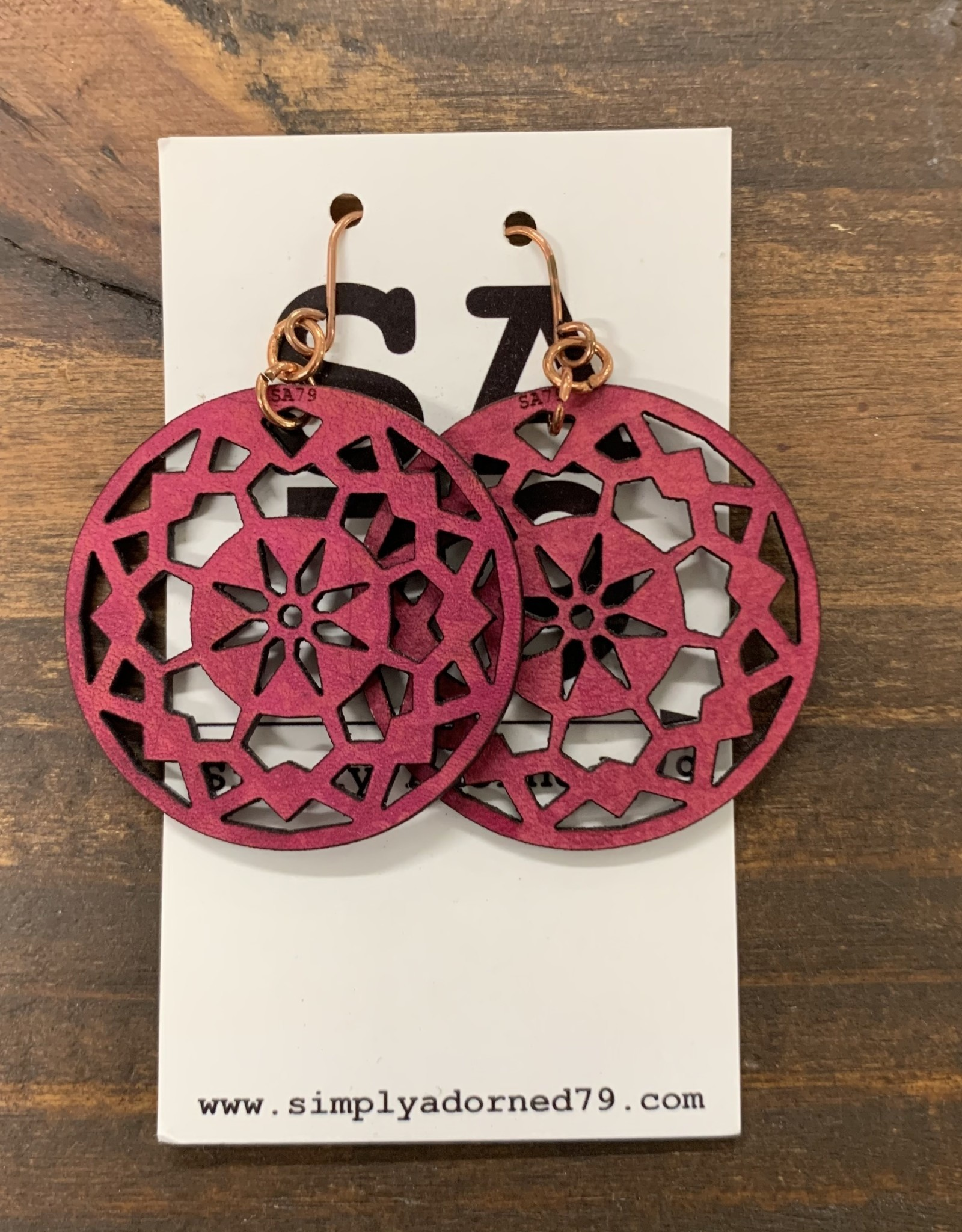 THE MANDALA - FUCHSIA EARRING