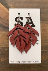 SA79 - THE LEAF - RED EARRING