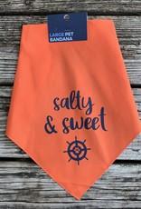 SALTY & SWEET LG PET BANDANA