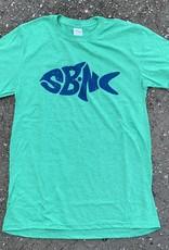 sbncfish SBNC FISH BLUE INK TEE