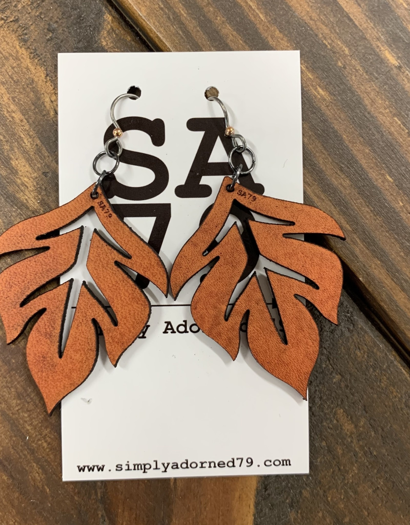 THE LEAF - ORANGE EARRING