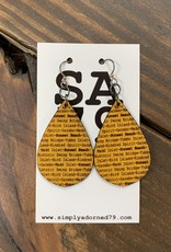 SB TEARDROP - YELLOW EARRING