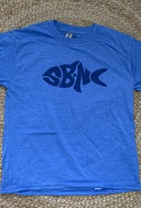 sbncfish SBNC FISH BLUE INK SS KIDS TEE